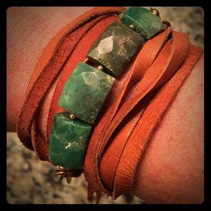 Leather wrap bracelet
